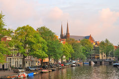 Amsterdam at sunset Stock Image