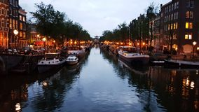 Amsterdam after sunset Royalty Free Stock Image