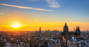 Amsterdam sunset Stock Photo