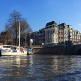 Amsterdam surrounded by water Royalty Free Stock Image