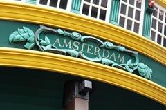 Amsterdam tecken Arkivfoto