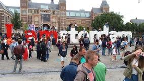 Amsterdam tecken Royaltyfri Bild