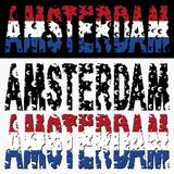 Amsterdam text euro grunge Royalty Free Stock Photos