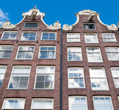 Amsterdam17th century residence building during the midday in down town, Netherlands. Royalty Free Stock Photos