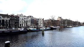 Amsterdam time lapse stock video footage