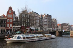 Amsterdam Tour Boat Royalty Free Stock Image