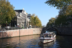 Amsterdam Tourboat Stock Photos