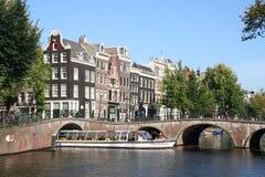 Amsterdam Touringboat Stock Photos