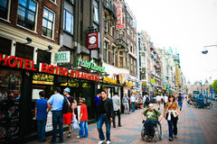 Amsterdam Tourists Stock Image