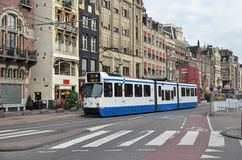 Amsterdam tram. Tram no.24 in Amsterdam, Netherland royalty free stock photo