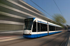 Amsterdam tramway Royalty Free Stock Images