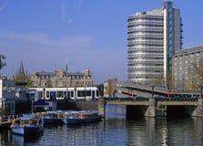 amsterdam trans. Royaltyfri Fotografi