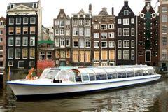 amsterdam turism Royaltyfri Fotografi