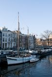 Amsterdam typical boats Stock Images