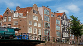 Amsterdam - Typical dutch architecture Royalty Free Stock Photography