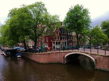 Amsterdam. Typical house in Amsterdam city centre Stock Image