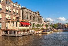 Amsterdam typical view. Royalty Free Stock Image