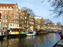 Amsterdam. Typical view of Amsterdam old city (Netherlands Stock Photo