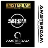 Amsterdam typography set, flat designs. EPS file available. see more images related vector illustration