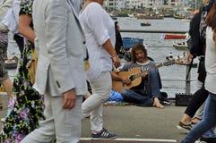Amsterdam ulicy muzyk Zdjęcie Stock