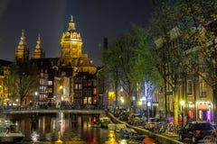 Amsterdam uteliv arkivbild