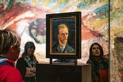 Amsterdam Van Gogh Museum självporträtt av konstnären royaltyfria foton