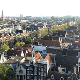 Amsterdam vanaf bovenkant Stock Afbeelding