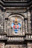 Amsterdam vapensköld på det Westerkerk tornet Fotografering för Bildbyråer