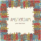 Amsterdam, vector card Stock Images