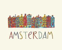 Amsterdam, vector card Stock Photos