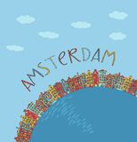 Amsterdam, vector card Royalty Free Stock Image