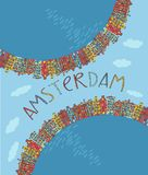 Amsterdam, vector card Royalty Free Stock Photos