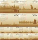 Amsterdam vektorkalender Stock Illustrationer