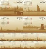 Amsterdam vektorkalender Royaltyfri Fotografi
