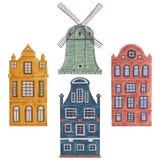 amsterdam Vieux bâtiments historiques et architecture traditionnelle des Pays-Bas Images stock