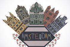 amsterdam Vieux bâtiments historiques et architecture traditionnelle des Pays-Bas Photo libre de droits