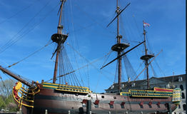 Amsterdam VOC ship. 15 May 2012-Amsterdam, Netherlands- The historical VOC ship in Amsterdam Royalty Free Stock Images