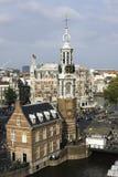Amsterdam von oben, die Niederlande Stockfotos