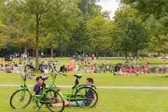 Amsterdam Vondelpark Royalty-vrije Stock Foto's