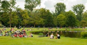 amsterdam Vondelpark Stockbilder