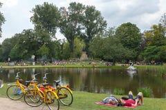 Amsterdam. Vondelpark. Stock Photos