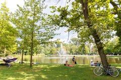 Amsterdam. Vondelpark. Stock Image