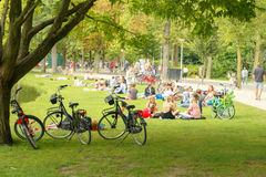 Amsterdam. Vondelpark. Royalty Free Stock Images
