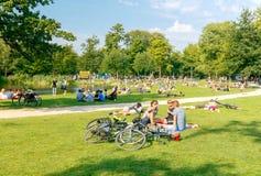 Amsterdam. Vondelpark. Stock Images
