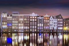 Amsterdam water reflection stock photo