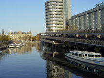 Amsterdam waterway Royalty Free Stock Image