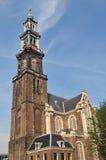 amsterdam westerkerk Arkivfoto