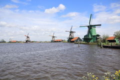 Amsterdam wind mills Stock Photography