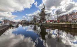 amsterdam windmill Arkivbild