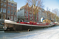 Amsterdam in winter in Netherlands Stock Photography